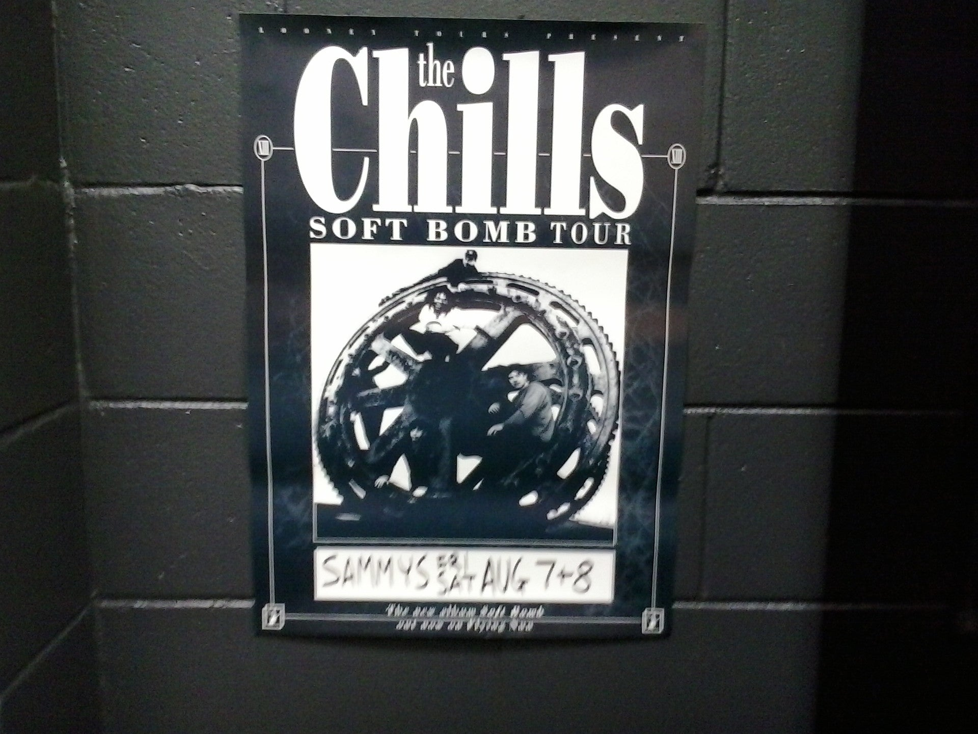 CHILLS THE-SOFT BOMB TOUR ORIGINAL GIG POSTER