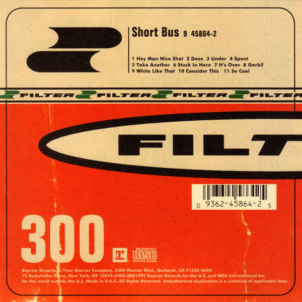 FILTER-SHORT BUS CD *NEW*