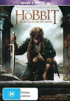 HOBBIT THE BATTLE OF THE FIVE ARMIES DVD+ULTRAVIOLET DVD VG