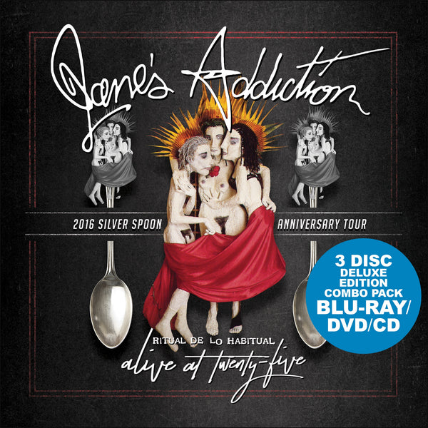 JANE'S ADDICITON-ALIVE AT 25: RITUAL DE LO HABITUAL CD+DVD+BLU RAY *NEW*