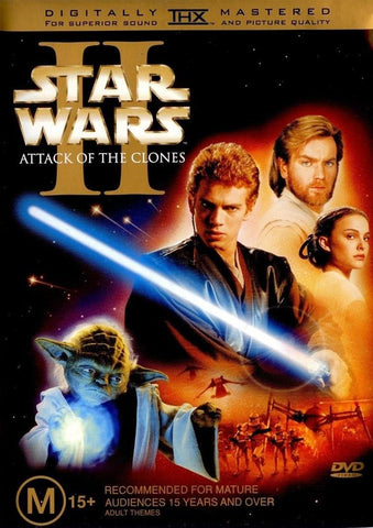 STAR WARS II: ATTACK OF THE CLONES 2DVD VG