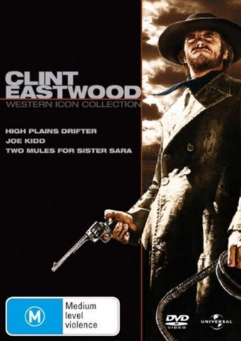 CLINT EASTWOOD WESTERN ICON COLLECTION 3DVD VG