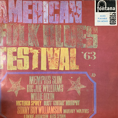 AMERICAN FOLK BLUES FESTIVAL 1963-VARIOUS ARTISTS LP VG+ COVER VG