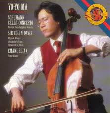 SCHUMANN-CELLO CONCERTO YO-YO MA COLIN DAVIS CD VG