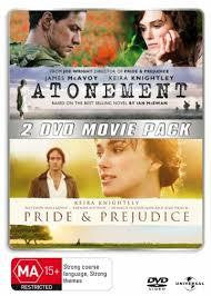 ATONEMENT PRIDE AND PREJUDICE REGION 4 2DVD M