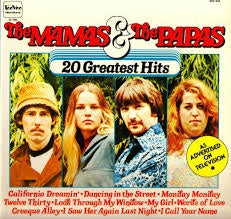 MAMAS & THE PAPAS-20 GREATEST HITS M COVER EX