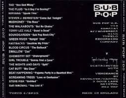 SUB POP 200-VARIOUS ARTISTS CD VG