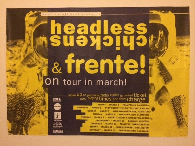 HEADLESS CHICKENS & FRENTE-ORIGINAL TOUR POSTER