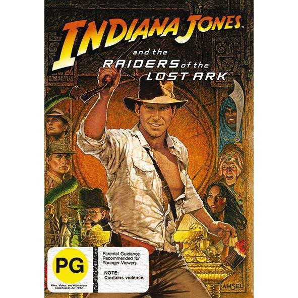 INDIANA JONES AND THE RAIDERS OF THE LOST ARK DVD VG