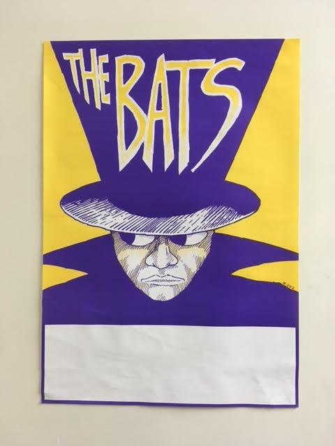BATS THE-CHIPPENDALE HOUSE ORIGINAL GIG POSTER
