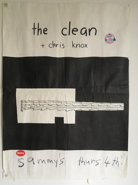 CLEAN THE / CHRIS KNOX  @ SAMMYS ORIGINAL GIG POSTER