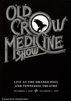 OLD CROW MEDICINE SHOW-LIVE AT THE ORANGE PEEL DVD *NEW*