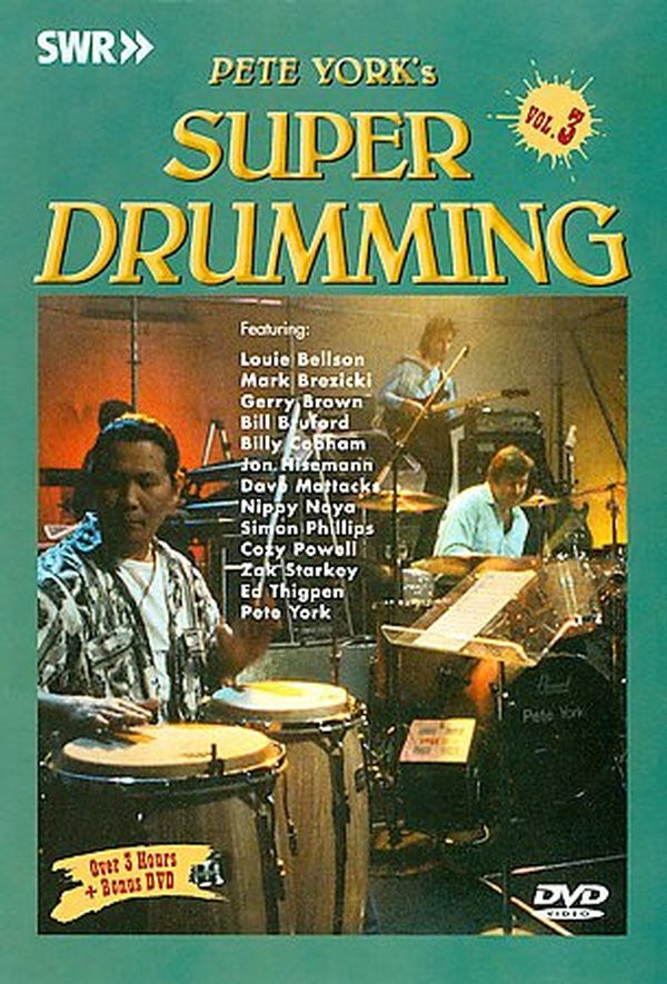SUPER DRUMMING PETE YORK VOL 3 DVD *NEW*