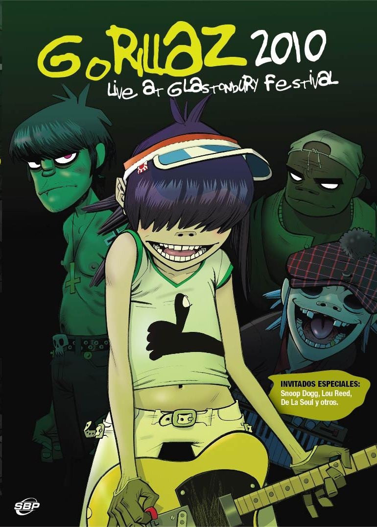 GORILLAZ-LIVE AT GLASTONBURY FESTIVAL DVD *NEW*