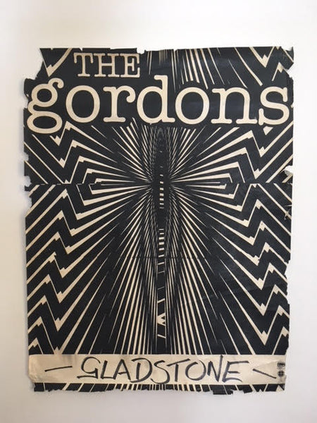 GORDONS THE-LIVE AT THE GLADSTONE ORIGINAL GIG POSTER