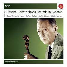 HEIFETZ JASCHA PLAYS GREAT VIOLIN SONATAS 9CDS *NEW*