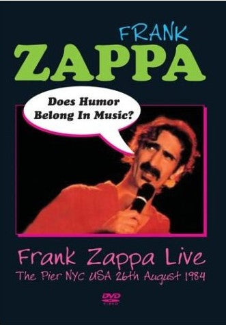 ZAPPA FRANK-LIVE DOES HUMOR BELONG IN MUSIC DVD *NEW*