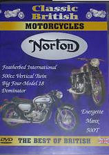 CLASSIC BRITISH MOTORCYCLES NORTON DVD M