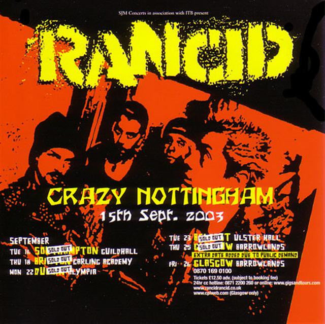 RANCID-CRAZY NOTTINGHAM CD *NEW*