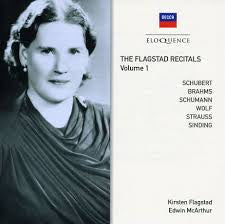 FLAGSTAD RECITALS THE-VOL 1 SCHUBERT BRAHMS SCHUMANN WOLF *NEW*