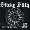"STICKY FILTH-DEF THRU MISADVENTURE PURPLE VINYL 7"" VG COVER VG"