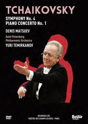 TCHAIKOVSKY-VOL 1 SYMPH NO 4 PIANO CON NO 1 DVD *NEW*