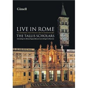TALLIS SCHOLARS-LIVE IN ROME *NEW*