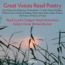 GREAT VOICES READ POETRY RICHARDSON BETJEMAN GIELGUD CD *NEW*