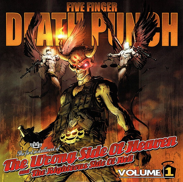 FIVE FINGER DEATH PUNCH-THE WRONG SIDE OF HEAVEN & THE RIGHTEOUS SIDE OF HELL VOLUME ONE 2CD VG