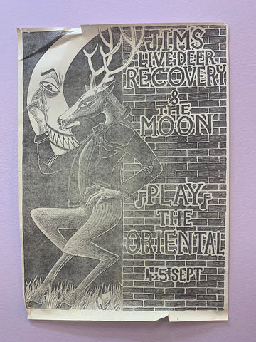 JIM'S LIVE DEER RECOVERY & THE MOON ORIGINAL GIG POSTER