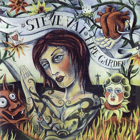 VAI STEVE-FIRE GARDEN CD VG