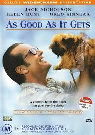 AS GOOD AS IT GETS FILM DVD VG
