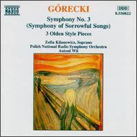 GORECKI-SYMPHONY NO 3 & 3 OLDEN PIECES CD G