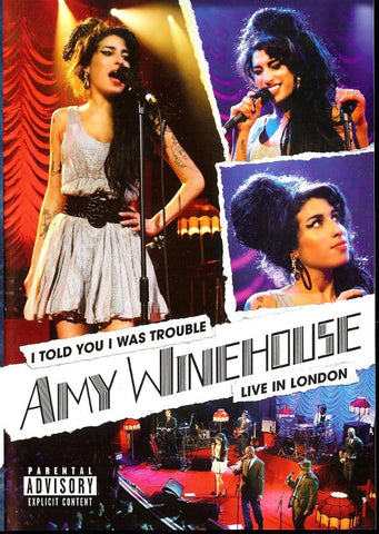 WINEHOUSE AMY-I TOLD YOU I WAS TROUBLE LIVE IN LONDON DVD VG