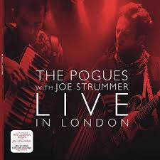 POGUES THE WITH JOE STRUMMER-LIVE IN LONDON RED VINYL 2LP VG+ COVER VG+