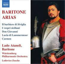 BARITONE ARIAS - LADO ATANELI CD *NEW*