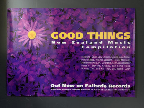 GOOD THINGS NZ MUSIC COMPILATION 1994 PROMO POSTER