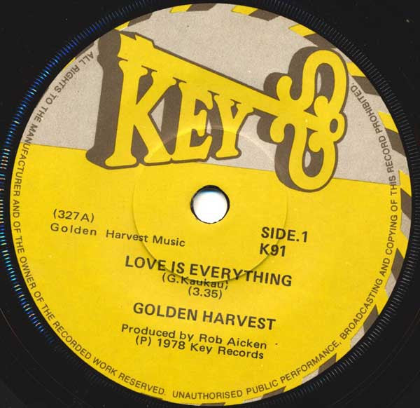 GOLDEN HARVEST-LOVE IS EVERYTHING 7'' VG