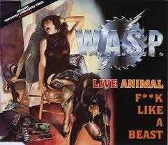 "WASP-LIVE ANIMAL F**K LIKE A BEAST 12"" EX COVER VG+"