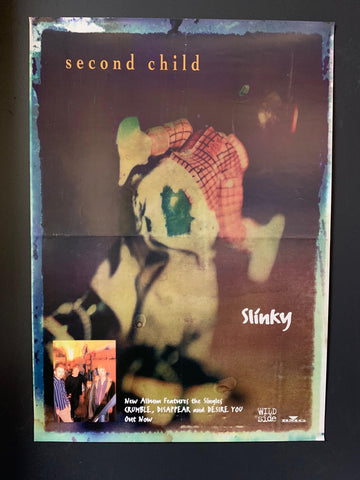SECOND CHILD-SLINKY ORIGINAL PROMO POSTER