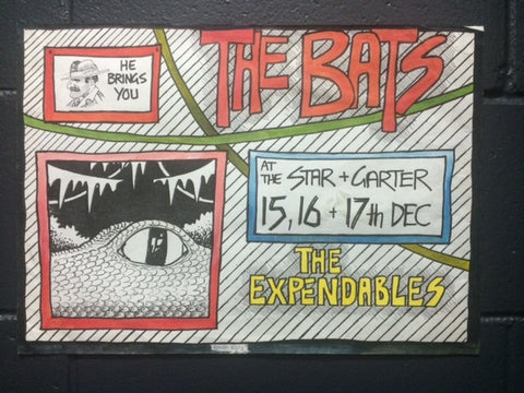 BATS THE & THE EXPENDABLES - ORIGINAL POSTER ARTWORK *NEW*