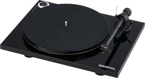 PROJECT-ESSENTIAL III BLACK TURNTABLE *NEW*