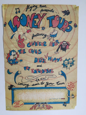 FLYING NUN PRESENTS LOONEY TOURS ORIGINAL GIG POSTER