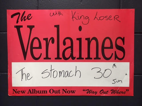 VERLAINES WITH KING LOSER ORIGINAL GIG POSTER