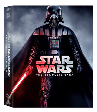 STAR WARS-THE COMPLETE SAGA 9BLURAY VG