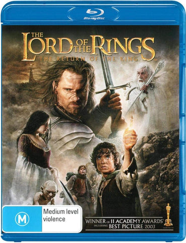 LORD OF THE RINGS-THE RETURN OF THE KING BLURAY VG+