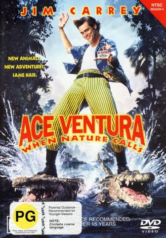 ACE VENTURA WHEN NATURE CALLS DVD VG