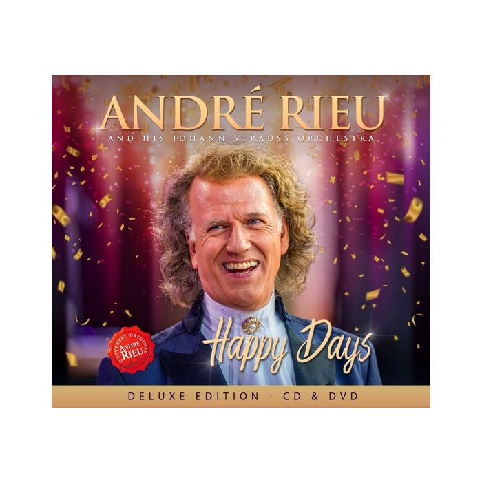 RIEU ANDRE AND HIS JOHANN STRAUSS ORCHESTRA-HAPPY DAYS DELUXE ED CD + DVD *NEW*