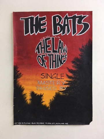 BATS THE-THE LAW OF THINGS ORIGINAL ARTWORK PROMO POSTER VG