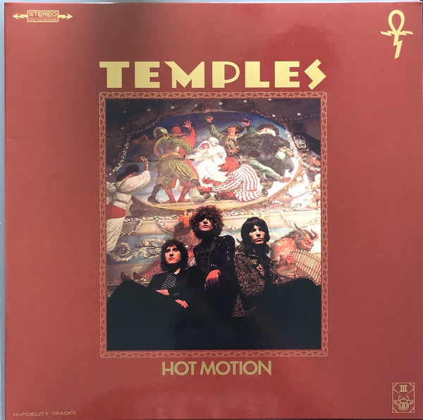 TEMPLES-HOT MOTION TRANSPARENT RED WITH BLACK MARBLE VINYL LP *NEW*